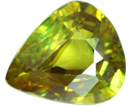3.30 Cts SPARKLING NATURAL ULTRA RARE MULTI TOP GREEN COLOR  SPHENE