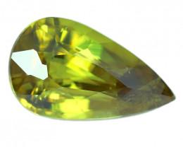 2.90 Cts:Lustrous Vivid Green Hue Natural Sphene!!