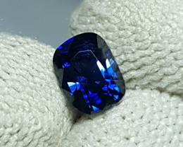 NO HEAT CERTIFIED 0.97 CTS NATURAL STUNNING ROYAL BLUE SAPPHIRE SRI LANKA