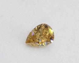 0.41ct Fancy orangish Yellow   Diamond , 100% Natural Untreate
