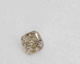 0.19ct  Faint Green  Diamond , 100% Natural Untrea