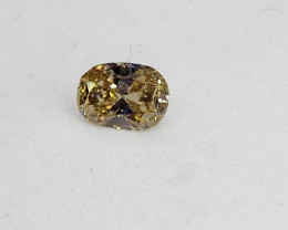 0.27ct  Fancy Light Yellow  Diamond , 100% Natural Untrea