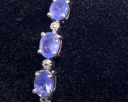 (21) Stunning Nat 44.20 tcw. Top Violet Blue Tanzanite CZ  Bracelet