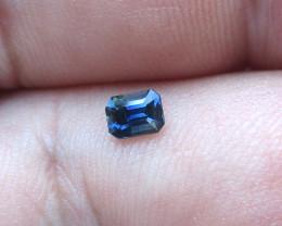 0.30cts Natural Australian Blue Sapphire  Emerald Cut