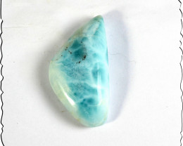 Excellent Natural Sky Blue Larimar Cabochon 34x18x8mm 42.5cts