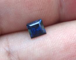 0.68cts Natural Australian Blue Sapphire Square Cut