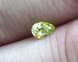 0.44cts Natural Australian Yellow Sapphire  Pear Shape