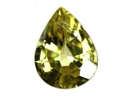 0.21cts Natural Australian Yellow Sapphire Pear Cut