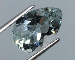 6.48 Carat VVS Topaz Pear Soft Blue Color Flash Quality Amazing !