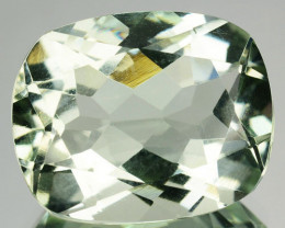 9.29 Cts Natural Green Prasiolite / Amethyst 15x12mm Cushion Brazil