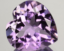 ~LOVELY~ 5.35 Cts Natural Purple Amethyst 12mm Heart Cut Bolivia