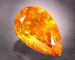 Diamond 0.34Ct Natural Fancy Orange Color Diamond 19CF53