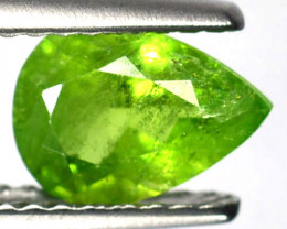 Radium Green!!! 0.91 Cts Natural Grossular Garnet Pear Cut Russia