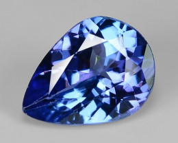 0.95 Cts Sparkling Violet Blue Color Natural Tanzanite Gemstone