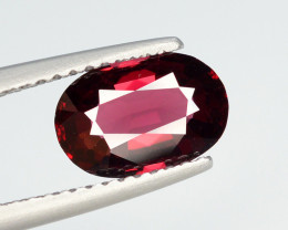 AIG CERT  Rare 1.50 Ct Marvelous Color Natural Red Spinel From Burma