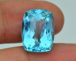 Rare 12.41 ct Amazing Luster Blue Apatite SKU.7
