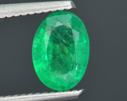 1.44 ct Zambian Emerald Vivid Green Color SKU-30