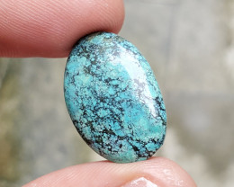 25x16mm TURQUOISE TIBETAN GENUINE NATURAL UNTREATED CABOCHON F46