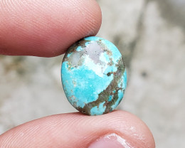 12Ct TURQUOISE TIBETAN GENUINE NATURAL UNTREATED CABOCHON F49