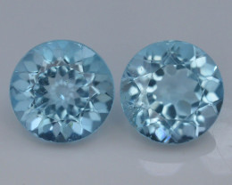 8.80 Ct Brilliant Color Natural Blue Swiss ~ Topaz ~ Pairs