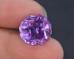 11.95 CT Natural Gorgeous Color Fancy Cut Amethyst ~  H