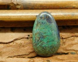 Oval cut chrysocolla cabochon bead (G1246)