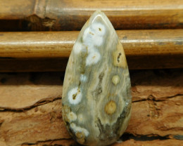 Ocean jasper cabochon bead (G1250)