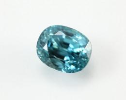 8.62ct Lab Certified Natural Blue Zircon
