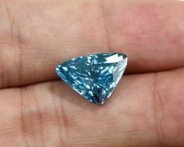 10.77ct Lab Certified Natural Blue Zircon