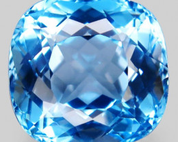 27.27 ct. Natural Swiss Blue Topaz Top Quality Gemstone Brazil – IGE Certif