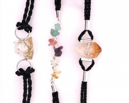3 x Raw Rock Gemstones Bracelet - BR 1160