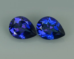 3.40 CTS WONDERFUL TANZANITE COLOR COTED TOPAZ PEAR