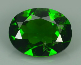 1.60 CTS NATURAL ULTRA RARE CHROME GREEN DIOPSIDE OVAL RUSSIA