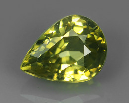 2.00 CTS~TOP LUSTROUS NATURAL CAMBODIA PEAR~RARE YELLOW COLOR ZIRCON!!