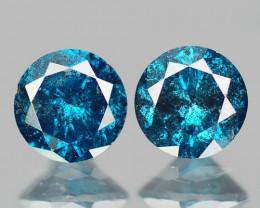 0.35 Cts SPARKLING RARE FANCY BLUE COLOR NATURAL DIAMOND