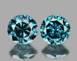 *NoReserve*DIAMOND 0.21 Cts  BLUE COLOR NATURAL