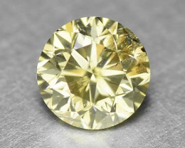 0.29 UNTREATED GREENISH YELLOW NATURAL LOOSE DIAMOND