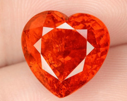 9.07 Cts NATURAL SPESSARTITE GARNET FANTA ORANGE RED LOOSE GEMSTONE