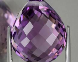 19.45ct Violet Amethyst Briolette 19.00mm No Reserve