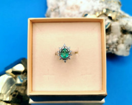 1,54ct Colombian Emerald 18k Solid Gold Ring 105 Colombian Natural Emerald