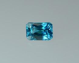 3.54 Cts Fabulous Lustrous Cambodian Blue Zircon