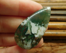Natural moss agate cabochon (G1275)