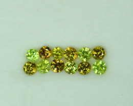 2.25 Cts Stunning Lustrous 3.5mm Sphene Lot