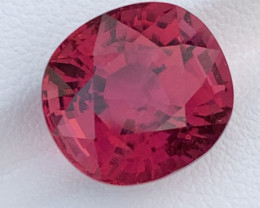 7.70 Carats Natural Color Rubellite  Tourmaline Gemstone