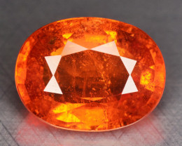 3.61 Cts NATURAL SPESSARTITE GARNET FANTA ORANGE RED LOOSE GEMSTONE