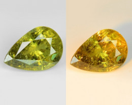 1.16 Cts Untreated Color Changing Natural Demantoid Garnet Gemstone