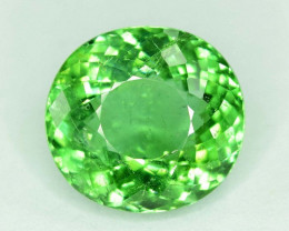 Gil Certified 7.65 Carats Oval Cut Natural Blue Green Color Pariaba Tourmal