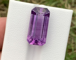13.70 Carats fancy cut amethyst gemstone