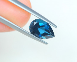 1.43Ct London Blue Topaz Pear Cut Lot LZB538