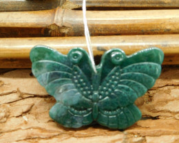 Natural butterfly carving pendant (G1344)